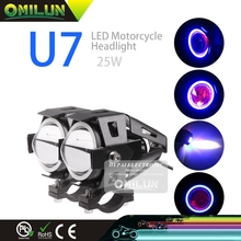 25W 12-80V U7 led flashlight for motorcycle honda cbr 600 cb400 harley