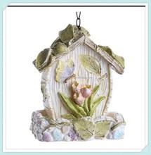 Resin tulip flower hanging bird feeder House