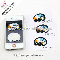 2015 new arrive promotional item reusable sticky smartphone wipes