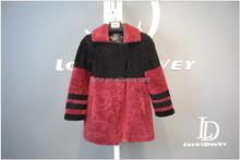 ladies worm cashmere coat Europe fashion long style 100% Australian imported lamb fur sheepskin overcoat for women and girls