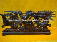 wooden carving craft wooden dragon