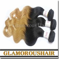 Hot Sale Ombre Hair Extension Two Tone Colored Cheap Brazilian Hair Weaving