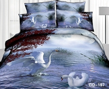 Stunning Red Maple Tree with Dancing Swans 3d 3d printing bed sheet