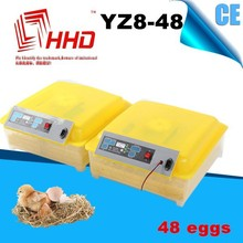 Baratos automático completo solar 48 incubadora de huevos de gallina& 132 huevos de codorniz incubadora
