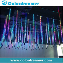 3D RGB SMD5050 dmx vertical led tubes with 360 degree view angle