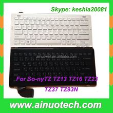 laptop US keyboard for SONY TZ Series laptop TZ13 TZ16 TZ23 TZ37 TZ93N UK Keyboard laptop repairment parts white and black