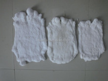 Factory wholesale 100% Real Rabbit Fur Skin natural white color