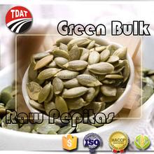 Organic green bulk pumpkin seeds raw