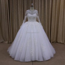 2014 New Sweetheart A Line Franch Lace Wedding Dress For Fat Woman