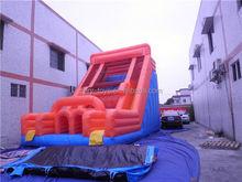 bouncing inflatable slide, ZY-DS547 branded super high inflatable slide