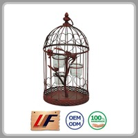 Designs Available Unique Hotel Decor Cage Shape Iron Lantern For Candle