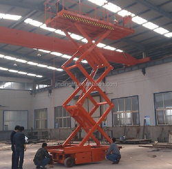 Mobile hydraulic self propelled scissor lift machine for sale