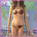 El diseño de moda del leopardo del punto Bikini Halter Set chica sexy traje de baño 2014 4269-1