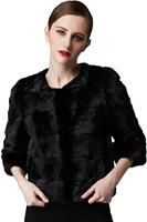 Black Fur Coat Winter Overcoat Women Fashion Coat