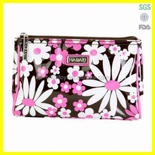 Travel cosmetic bag /promotional cosmetic bag/ satin cosmetic bag