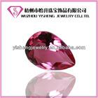 venda quente solta gota facetada forma de pêssego vidro pedra pedras preciosas