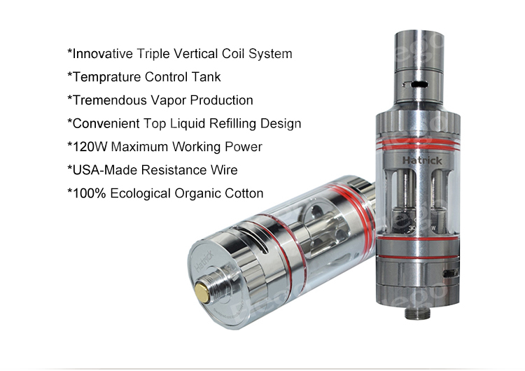100  original top filling triple coil smowell hatrick v2