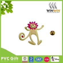 Jump Monkey shaped soft Rubber PVC Lapel Pin Badge