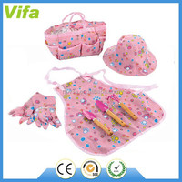 kids cartoon garden tools set with apron for girls