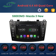 Android 4.4 Car audio stereo system/radio/dvd/gps navi for Mazda 3 New