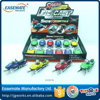 Sliding snowmobile toy die cast car with IC