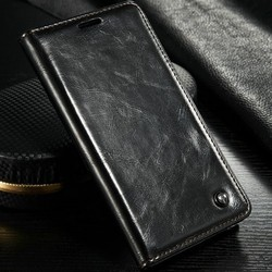 Hot selling Stand Leather Magnetic Wallet Case for Galaxy Note 5/note 5 Edge