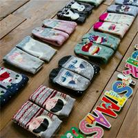 Christmas Terry Socks 100% Cotton Cartoon Socks Character Animals