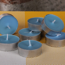 18 pcs household jasmine scented tealight candle Ocean Blue with gift box wholesale