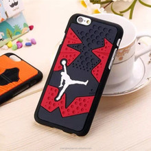 Hot New Products Air Jordan Shoe Sole Silicone Skin Cover Case For iphone 6