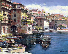 stretched Venice buildings picture on canvas
