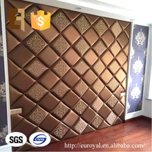 3D Decorative Soft Leather Wall Panel Board for Bedside Decoration