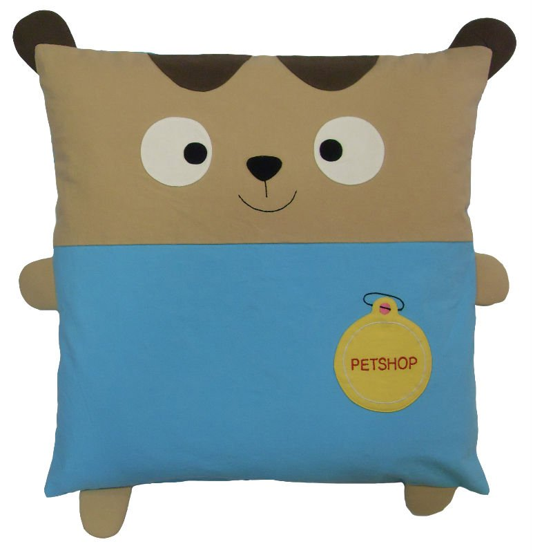 Animal Character Pillows : Animal Character Applique Patchwork Embroidery Designs Cotton Fabric Cushion Cover Pillow (jb ...