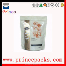 Resealable Stand up pouch for Chicken chews with hand hold / Custom Gravure Vivid Printing Dog Food Packaging Bag