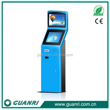 Guanri k06 mall/ lobby all in one computer film ticket printing kiosk/machine with 17/19 inch 1080P full HD LCD monitor