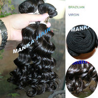 12-28 inch 40g per bundle 100% brazilian virgin deep wave natural black all cuticles in same direction
