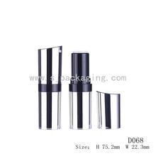 metalized color lipstick sample containers, empty plastic cosmetic tubes
