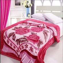 Super soft flower blanket raschel blanket