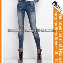 Nuevo diseño chic gafas las mujeres skinny <span class=keywords><strong>jeans</strong></span>( hyw63)