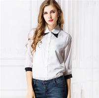 VT196 Latest Fashion office uniform designs for women blouses