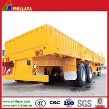 China 2Axles 30-40Ton Dropside Deck Semi Trailer Bulk Carrier for Sale
