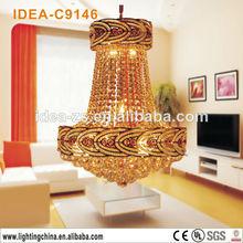 C9146 antiguos de cristal de la lámpara de araña de la gota, candelabros de cristal para comedor