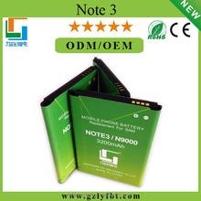 N9000 battery for Galaxy NOTE 3 Mobile Phone Lithium ion Battery for Samsung N9000 N9008 N9006 N9002 N9009