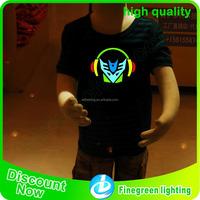 El Colorful flashing panel t shirt/Led panel t shirt