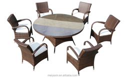 Round ratan dining table wicker patio online furniture shopping
