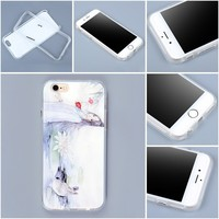 TPU bumper case PC protective cover for iphone6 with custom different design