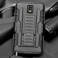 Hybrid heavy duty rugged Armor holster combo case with kickstand for SAMSUNG GALAXY NOTE3