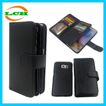 Two in one Plastic / TPU Wallet Leather flip mobile phone case for sumsung galaxy S6