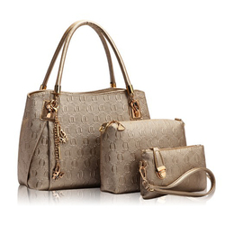 Fashion leather office bag for women, high quality pu composite bag