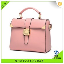 Free shipping soft pink manufacturer woman latest handbags from China