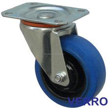 "5"" industrial high elastic rubber caster with pp core used for pallet trucks/rolling container/storage racks/handling equipment"